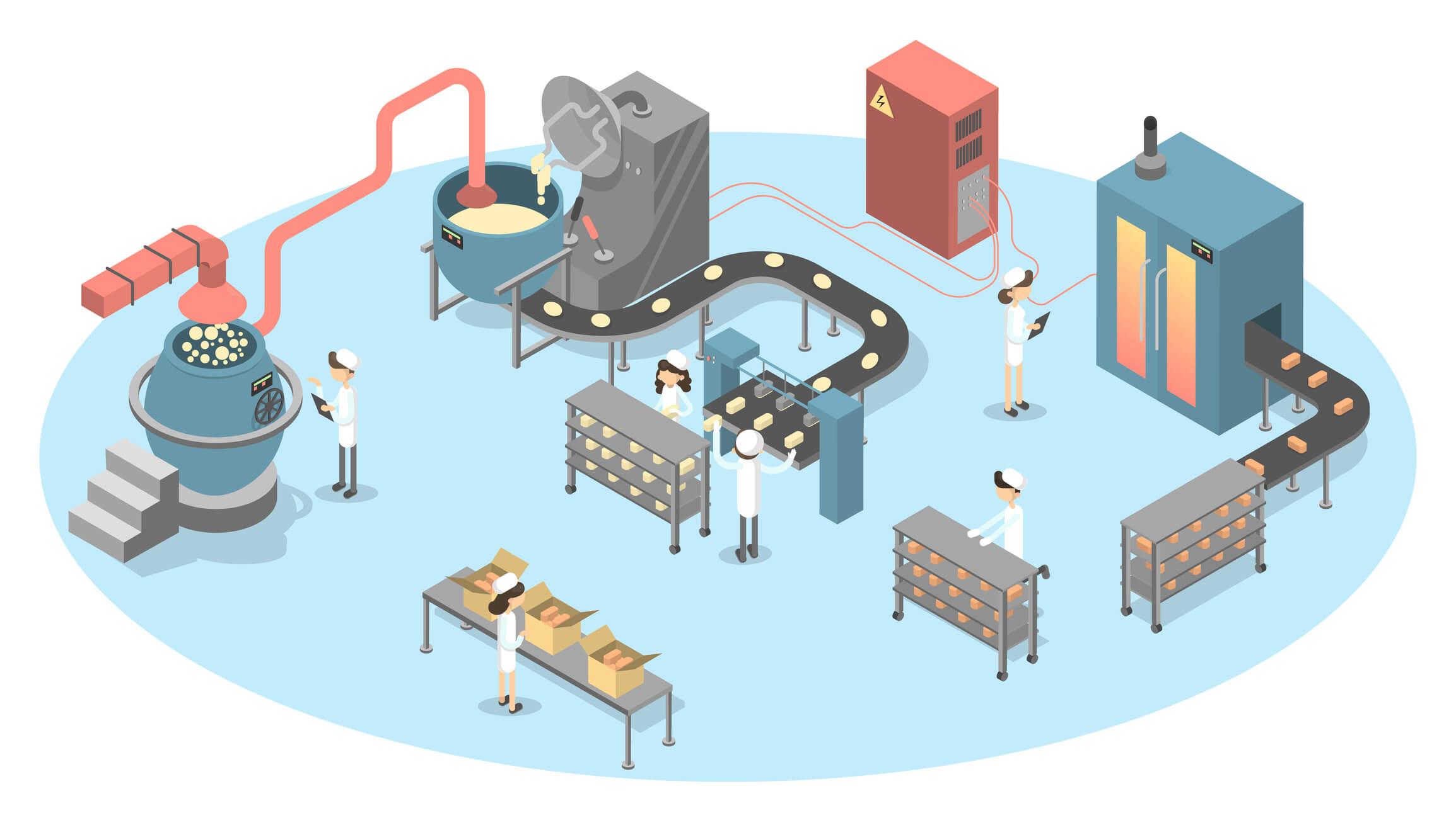 Modelo de industria que representa la gestión de la información en industria alimentaria