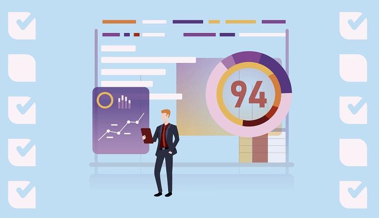 Profesional haciendo análisis de datos en la industria